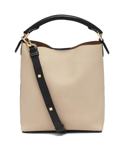 LOEWE T Bucket Small Bag Oat/Khaki Green all