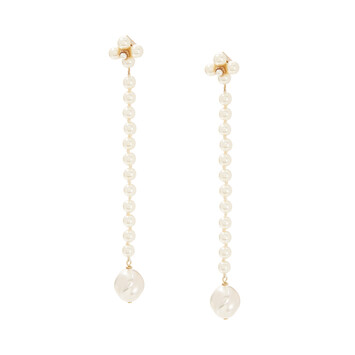 LOEWE Pearls Earrings White front