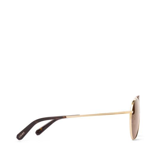 LOEWE Pilot Sunglasses Brown/Roviex all