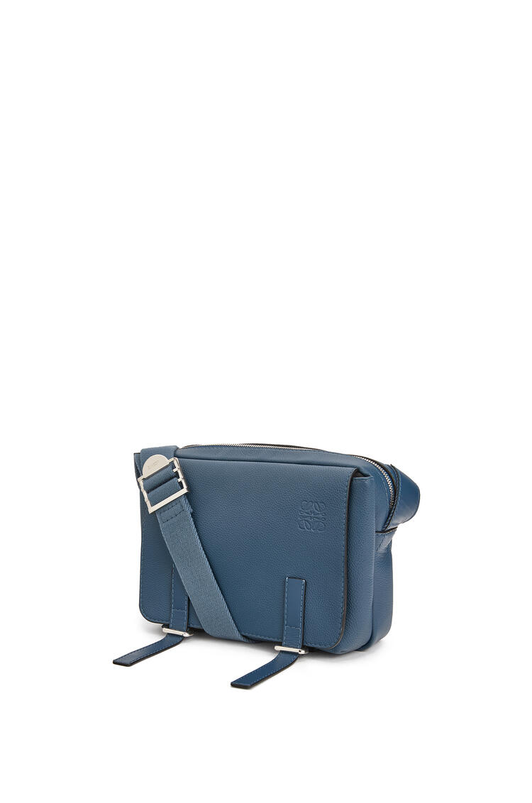 LOEWE XS Military messenger bag in soft grained calfskin Indigo pdp_rd