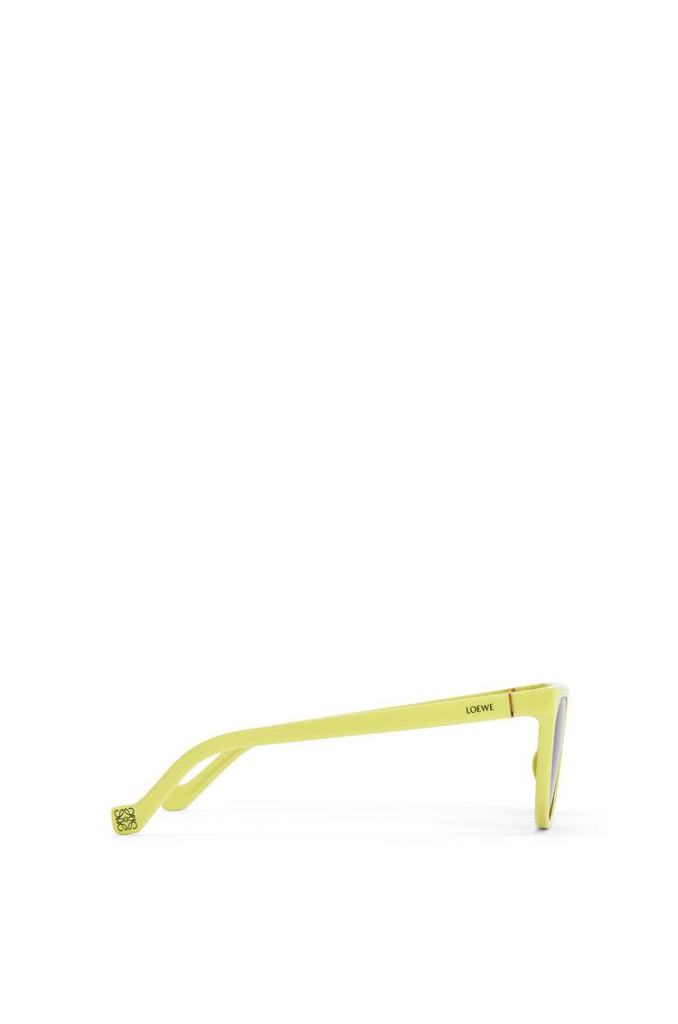 LOEWE Pilot Sunglasses in acetate Neon Yellow pdp_rd