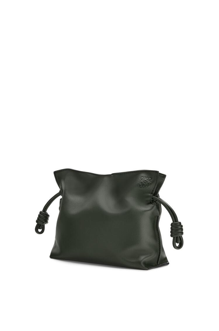 LOEWE Mini Flamenco clutch in nappa calfskin Vintage Khaki pdp_rd