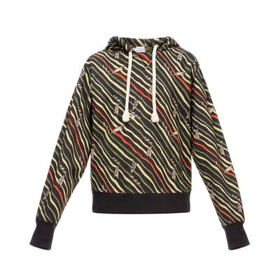 LOEWE Sweatshirt Paula Flags Black/Multicolor front