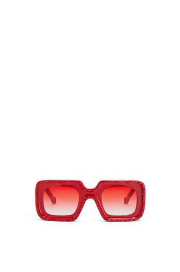 LOEWE Wave Sunglasses in acetate Deep Red pdp_rd