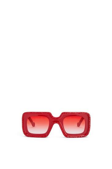 LOEWE Gafas de sol Wave en acetato Rojo Profundo pdp_rd