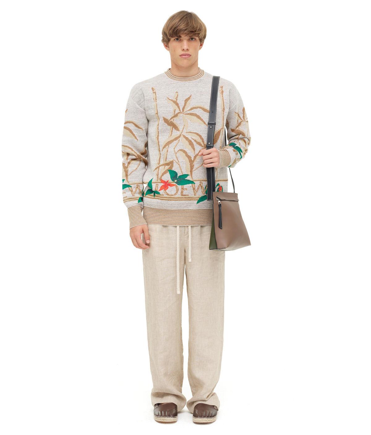 LOEWE Sweater Flowers 浅灰色/多色 all