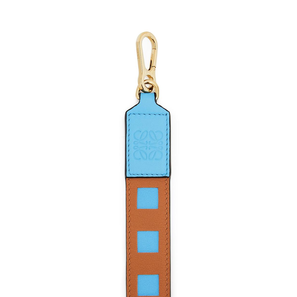 LOEWE Grid Strap Tan/Sky Blue front