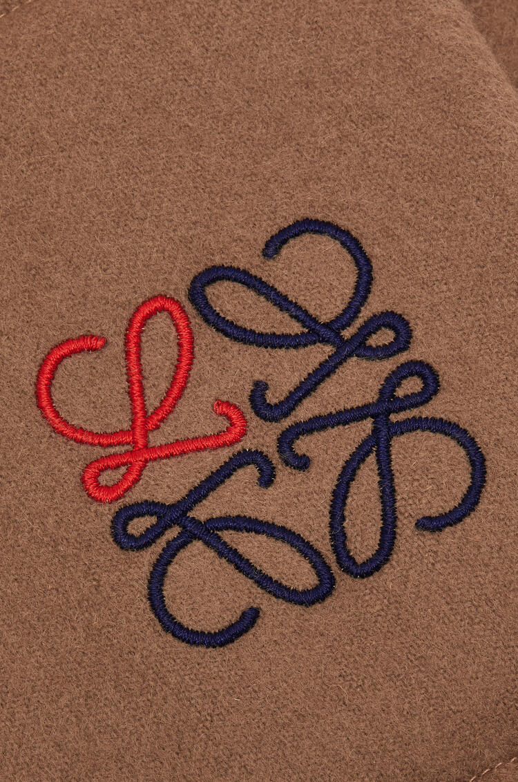 LOEWE 17 x 190 cm padded anagram scarf in cashmere Camel pdp_rd
