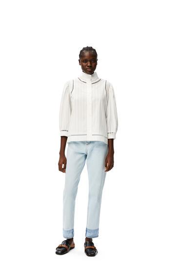 LOEWE Short blouse jour echelle in cotton White pdp_rd