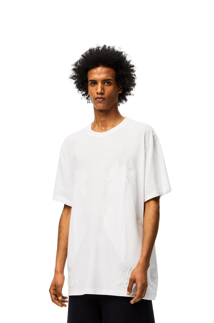LOEWE Rooster oversize t-shirt in cotton White pdp_rd