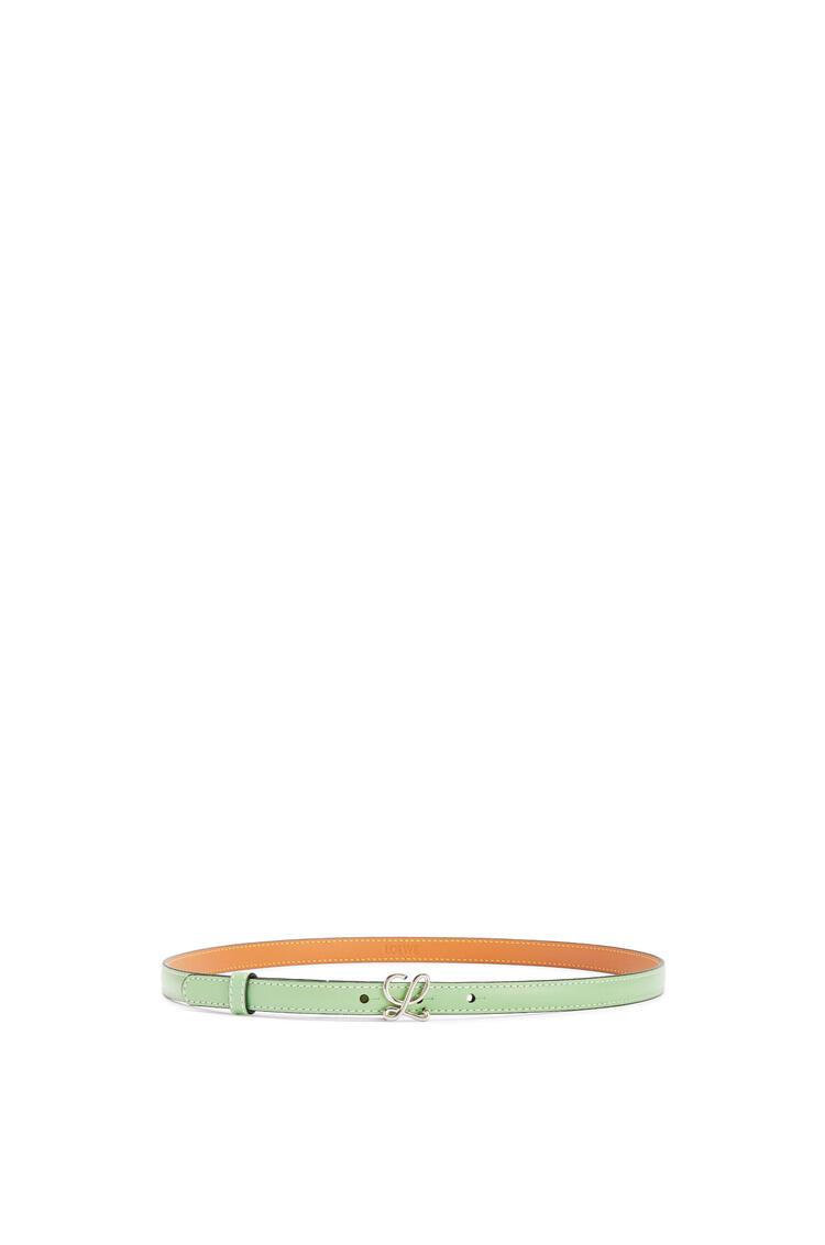 LOEWE Belt in smooth calfskin Jade/Palladium pdp_rd
