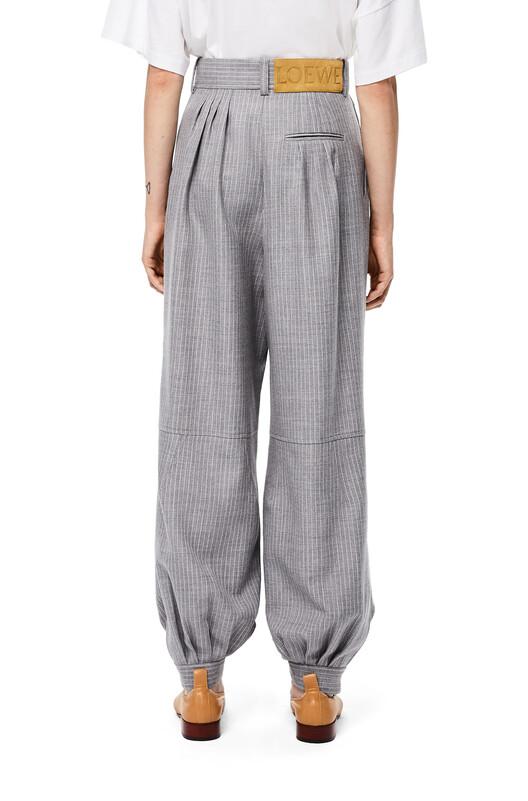 LOEWE Stripe Balloon Trousers Gris front
