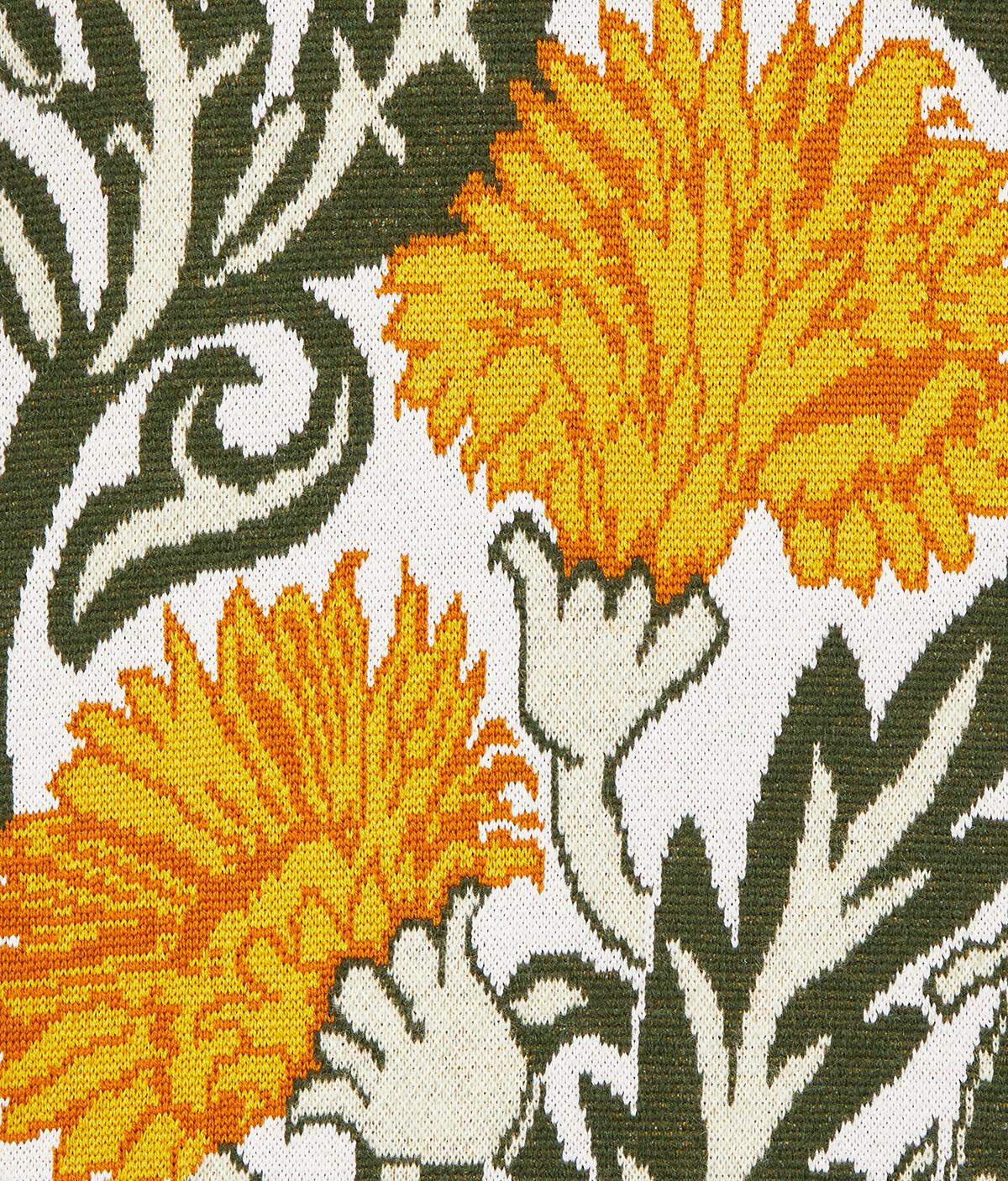 LOEWE Oversize Cardigan Flowers White/Yellow front