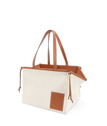 LOEWE Cushion Tote Large Light Oat  front