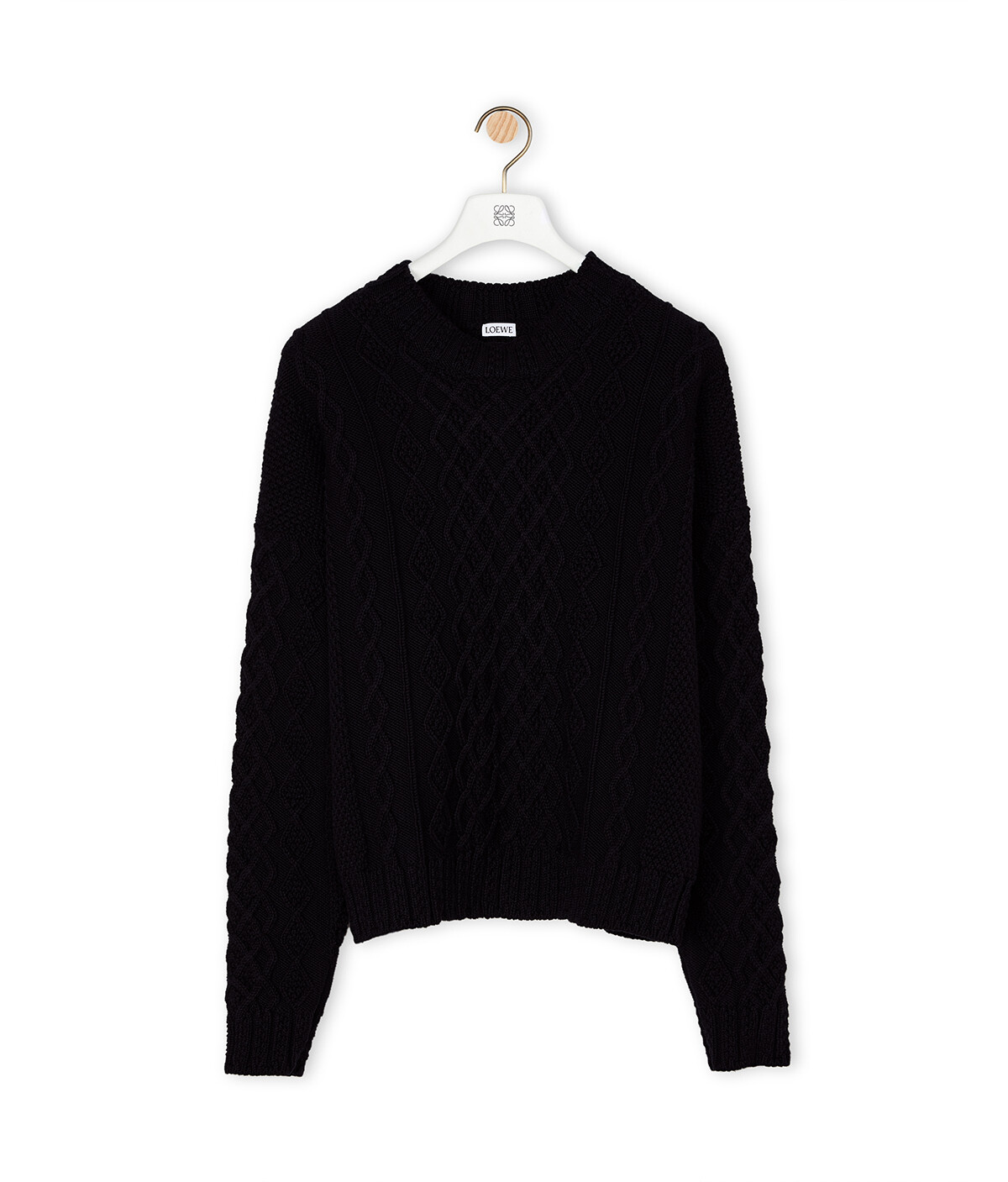 LOEWE Cable Sweater Navy Blue front