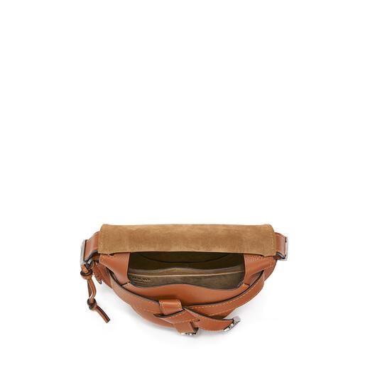 LOEWE Gate Western Small Bag Walnut front
