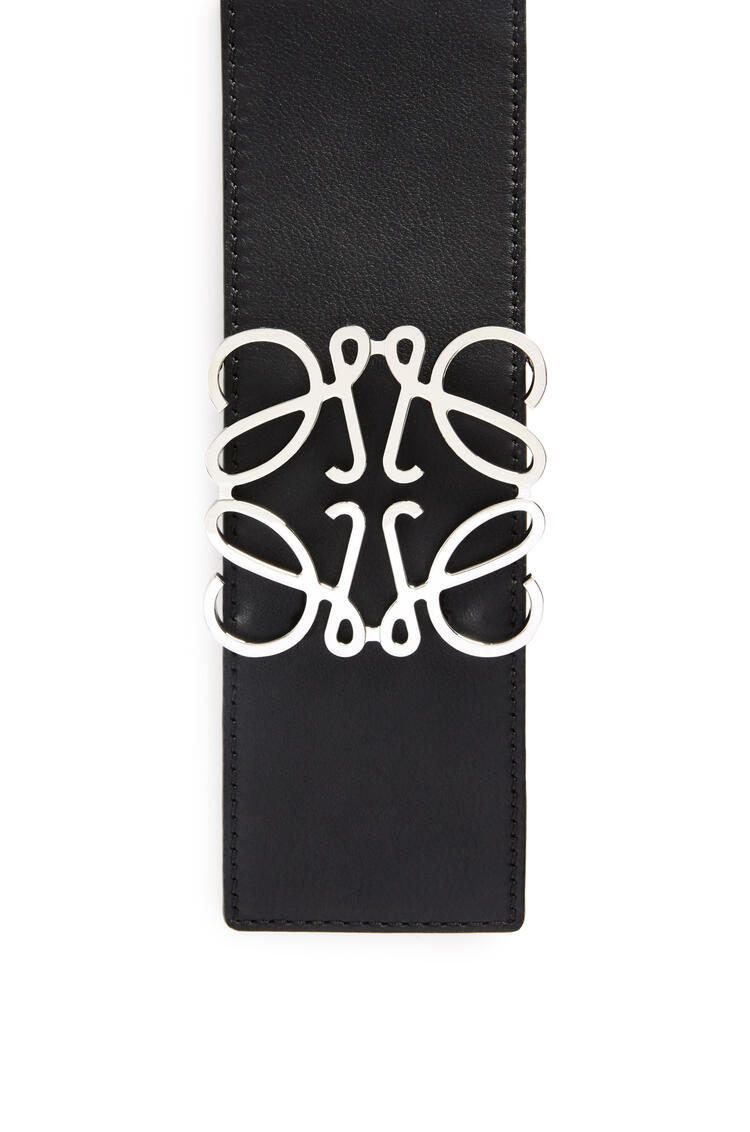 LOEWE Anagram belt in classic calfskin Black/Palladium pdp_rd