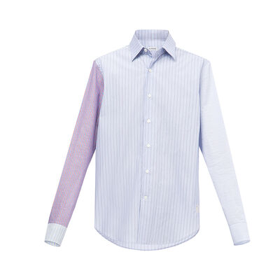 LOEWE Patchwork Sleeve Stripe Shirt Multicolor front