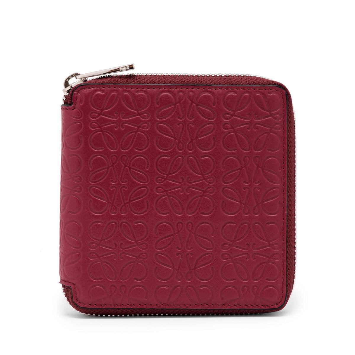 LOEWE Square Zip Wallet 覆盆莓色 all