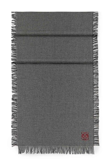 LOEWE 60X200 Scarf Checks White/Black front