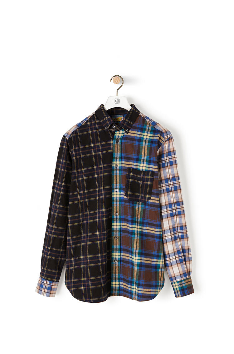 LOEWE Patchwork overshirt in check cotton Multicolor pdp_rd