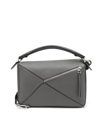 LOEWE Puzzle Large Bag 煤灰色 front