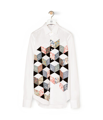 LOEWE Patch Panel Shirt Blanco front