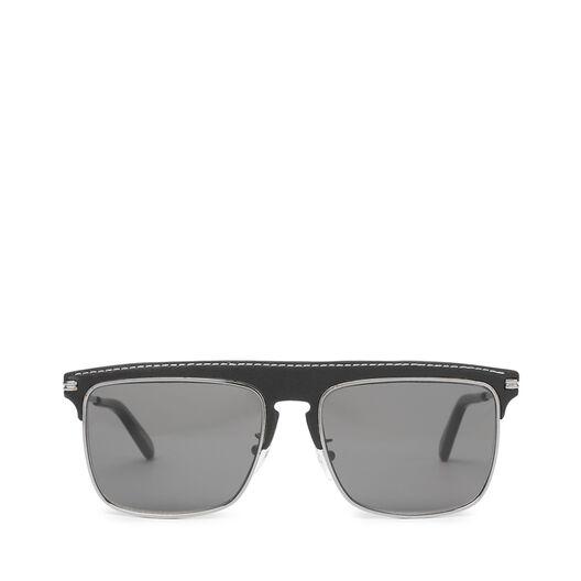 LOEWE Gafas Cuadradas Negro/Humo front