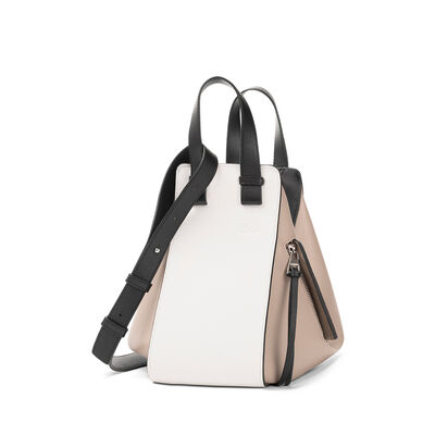 LOEWE Bolso Hammock Pequeño Blanco Suave/Arena front