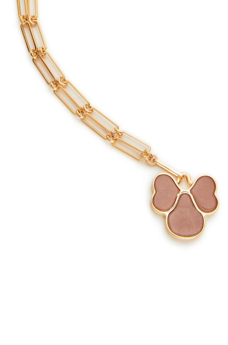 LOEWE Pansy necklace in semi precious stones Pink pdp_rd