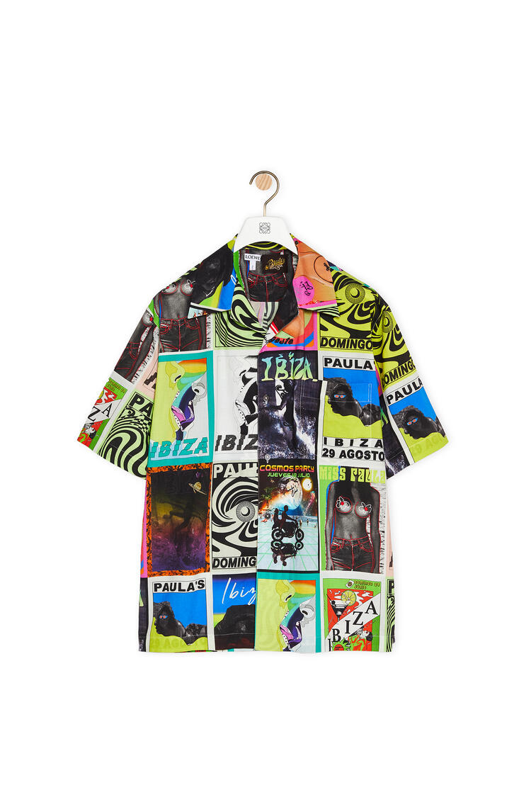 LOEWE Shirt in cotton with club flyer motifs Multicolor pdp_rd