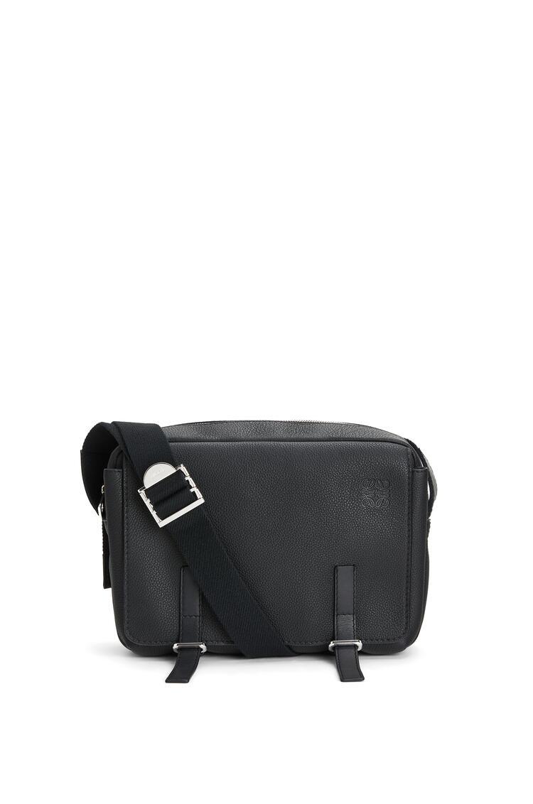 LOEWE Small Military Messenger Bag In Calfskin 黑色 pdp_rd