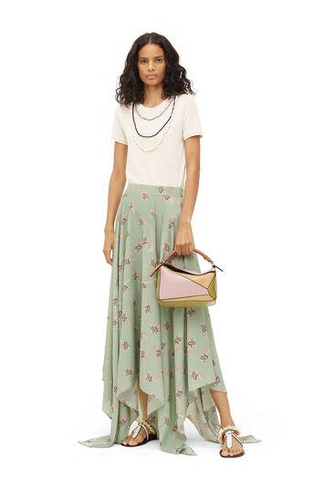 LOEWE Paula Print Skirt Light Green front