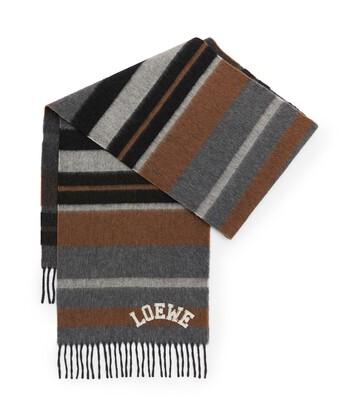LOEWE 30X180 Scarf Stripes Stone Grey/Brown front