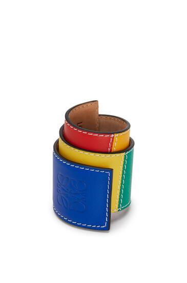 LOEWE Big Slap Bracelet In Smooth Calfskin Multicolor pdp_rd