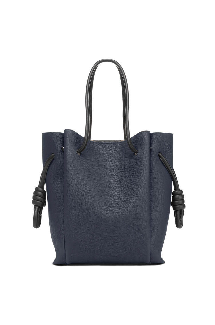 LOEWE 小号柔软粒面小牛皮 Flamenco Knot Tote 手袋 Midnight Blue/Black pdp_rd
