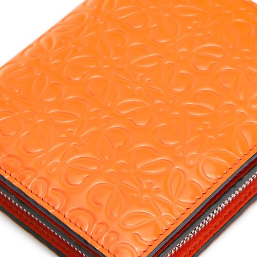 LOEWE Compact Zip Wallet 橙色 front