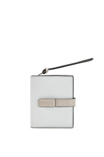 LOEWE Compact zip wallet in soft grained calfskin Kaolin/Ghost pdp_rd