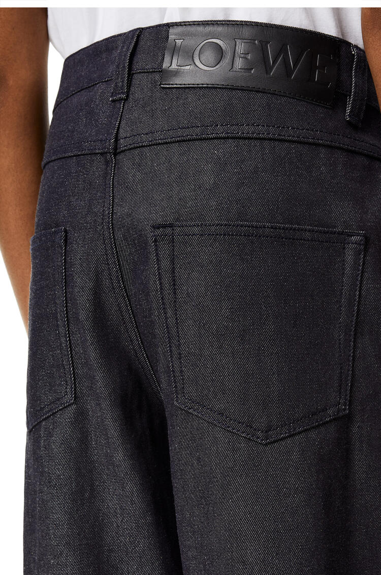 LOEWE Fisherman jeans in stone washed denim Navy Blue pdp_rd