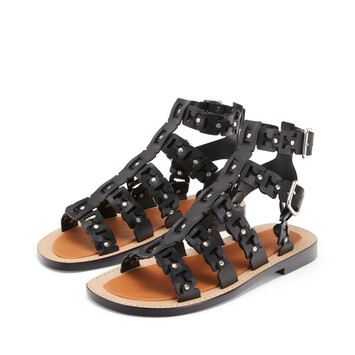 LOEWE Spartiate Sandal ブラック front