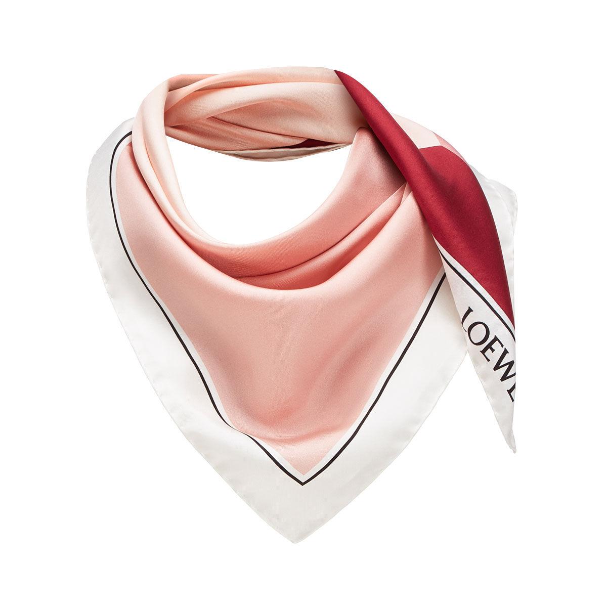 LOEWE 90X90 スカーフパズル ピンク all