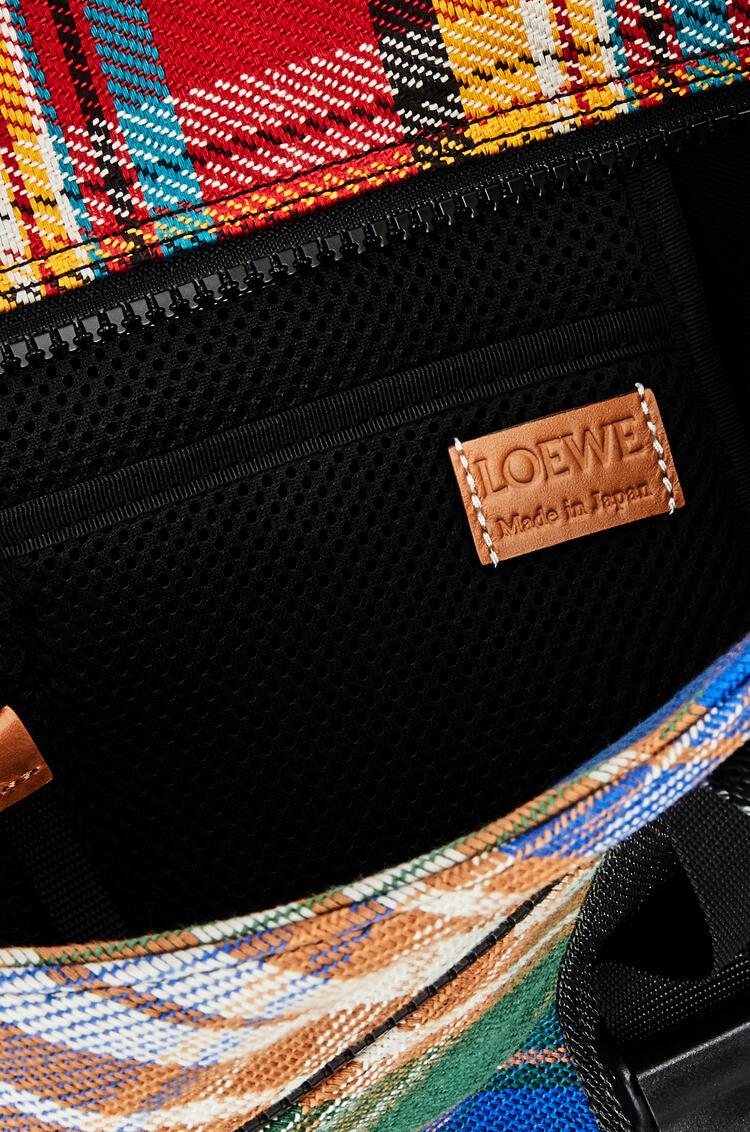 LOEWE Bolso tote en tartán Multicolor pdp_rd
