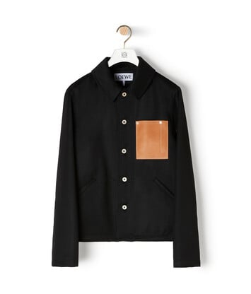 LOEWE Button Jacket Negro front