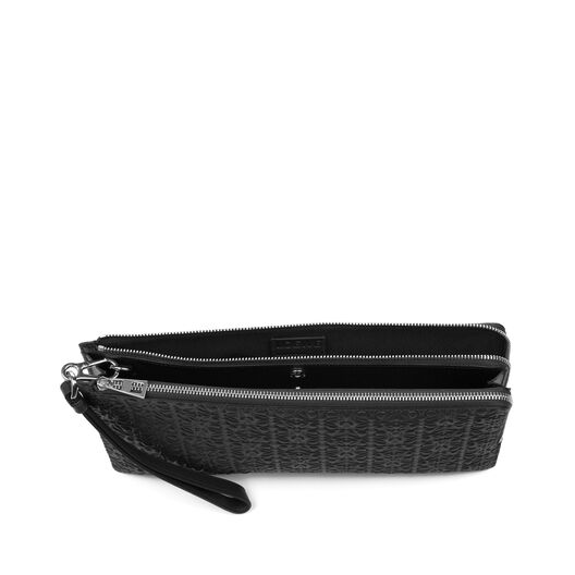 LOEWE Pouch Doble Plana Negro all