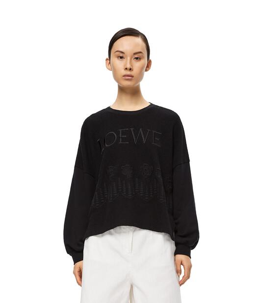 LOEWE Embroidered Sweatshirt Negro front