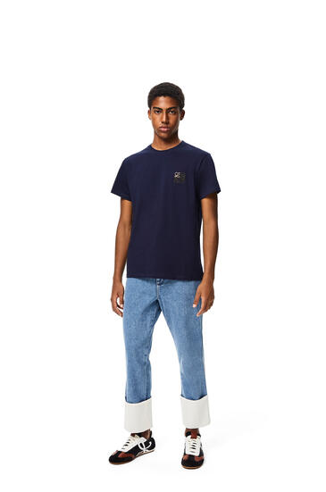 LOEWE Anagram t-shirt in cotton Navy Blue pdp_rd