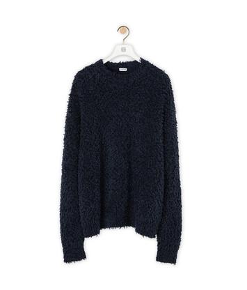 LOEWE Yzzuf Crewneck Sweater Navy Blue front