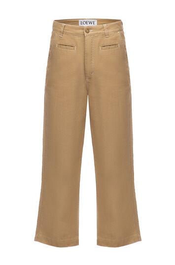 LOEWE Fisherman Trousers Beige front