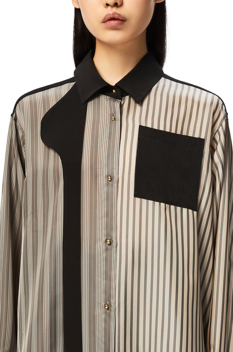 LOEWE Patchwork blouse in striped cupro and viscose Multicolor pdp_rd
