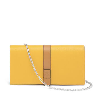 LOEWE Wallet On Chain Yellow Mango/Honey front